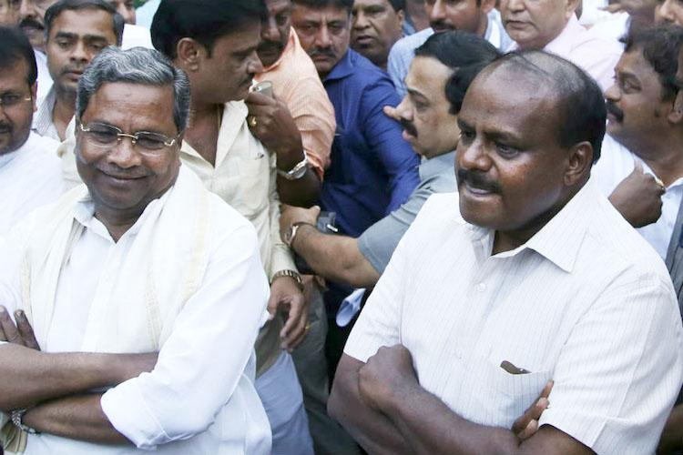 Karnataka crisis BJP lures and lets warring Cong-JDS leaders do their job for them