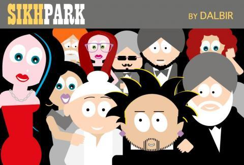 Sikh Park An ad mans web comic creations on Sikhs are nothing short of cool
