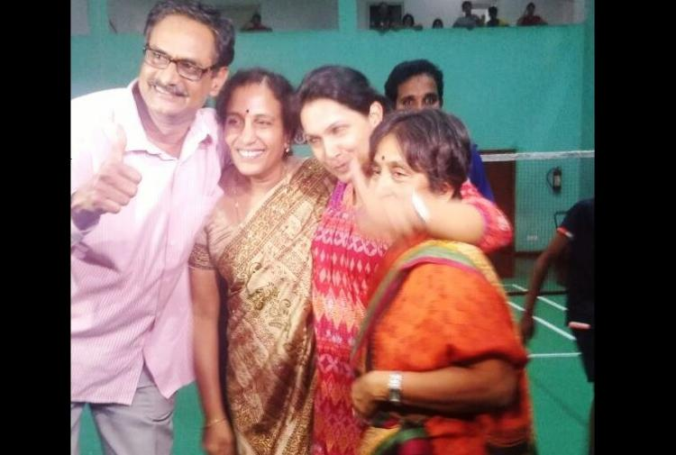 Sindhu would cry if we missed a days practice say proud parents celebrating in Hyderabad