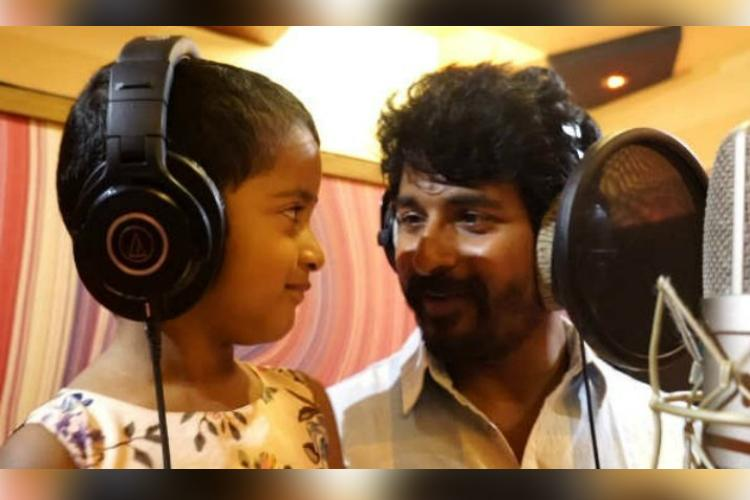 Sivakarthikeyan croons number with daughter Aaradhana for 'Kanaa