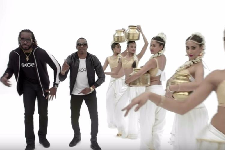 Watch Dwayne Bravo and Chris Gayle recreate the hit Champion for condom ad