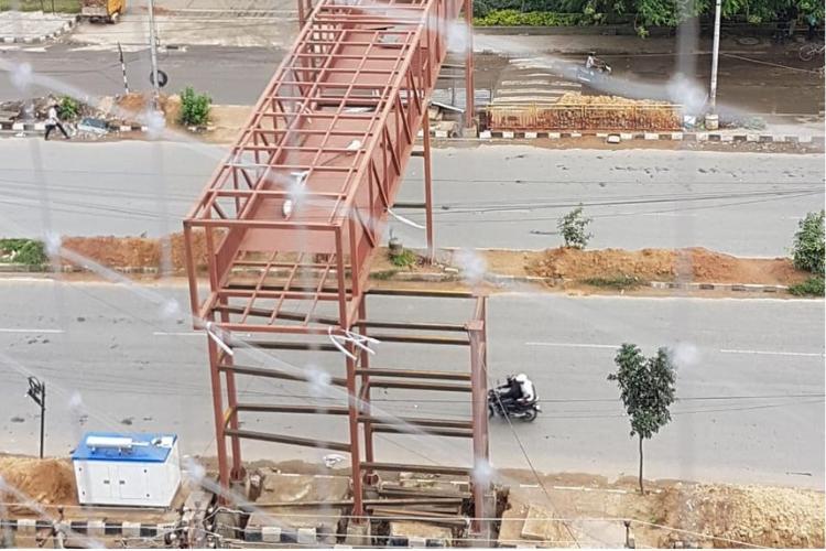 Blurus pedestrian deathtrap 9 months on skywalk in Bellandur yet to become reality