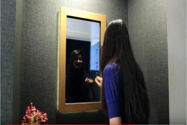 This mirror lets you check mails read news and book an Uber