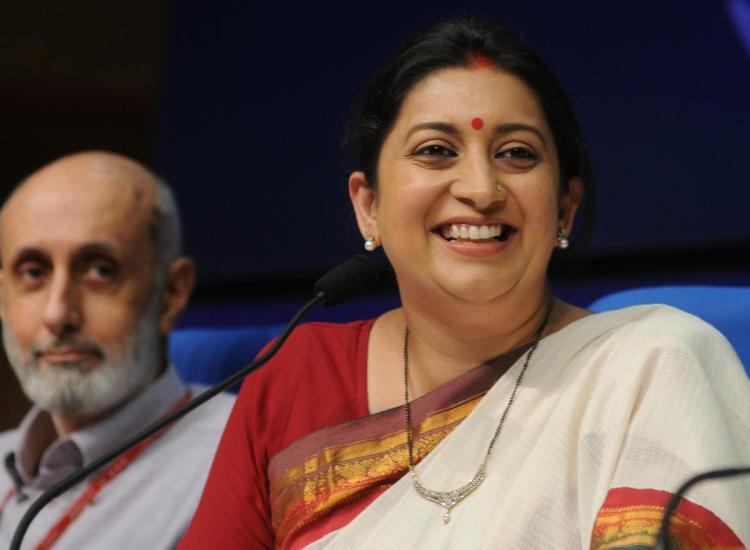 Smriti Irani denies appointing RSS-affiliated people