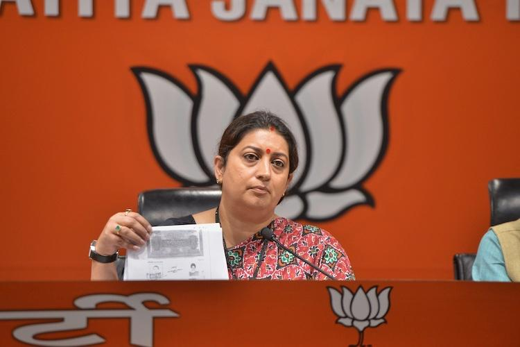 Cong moves EC over Smriti Iranis contradictory affidavits on her education