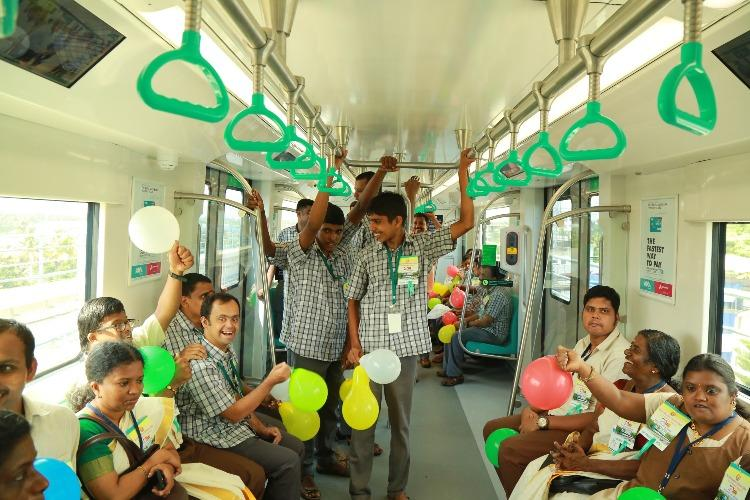 On Kochi Metros journey of love disabled children elderly become first passengers