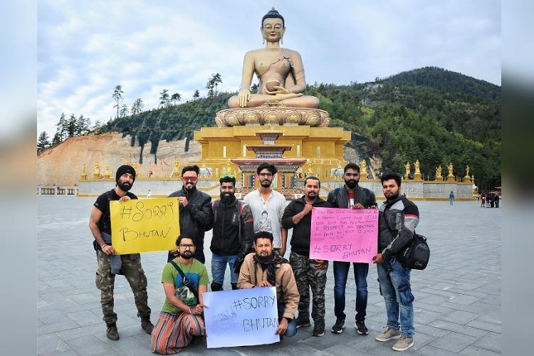 Kerala bikers say sorry to Bhutan for Indian tourist who climbed sacred structure