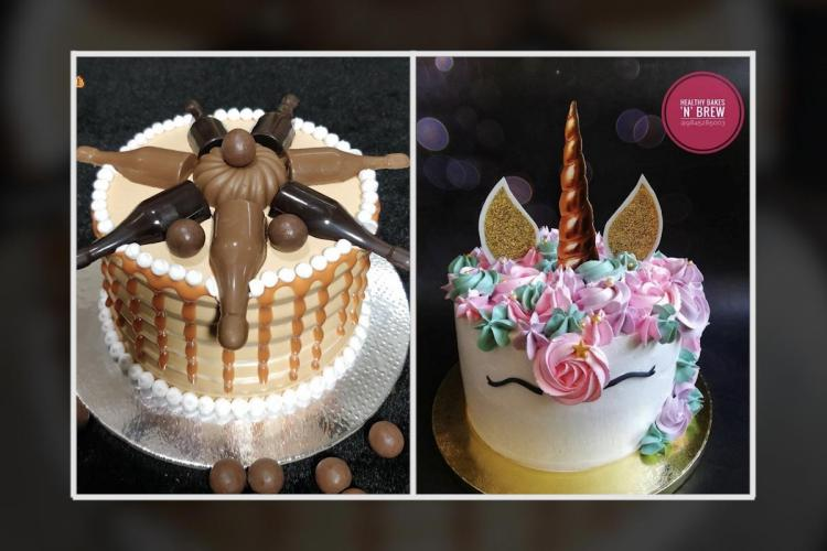 Collage of cakes by Soul Treat and Healthy Bakes 'n' Brews