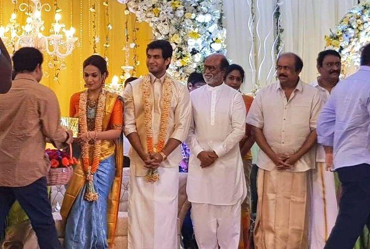 In Pics Soundarya Rajinikanths Pre Wedding Reception To Actor