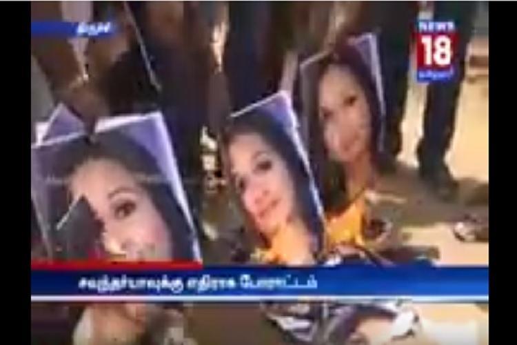 Soundarya Rajinikanth faces heat from pro-jallikattu groups her picture burnt in protest