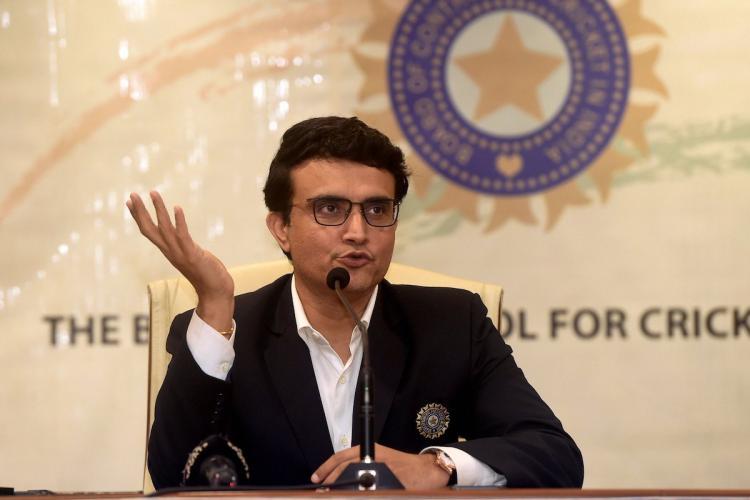 Sourav Ganguly addressing PC