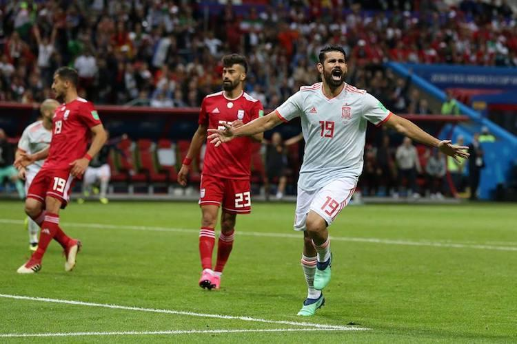 Scrappy Spain ride Costa goal to down gritty Iran 1-0