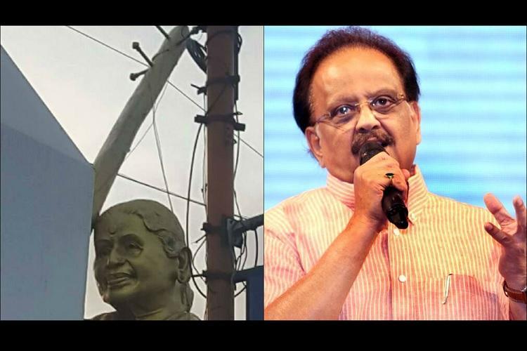 SPB almost cries at the state of MS Subbulakshmi statue in Tirupati