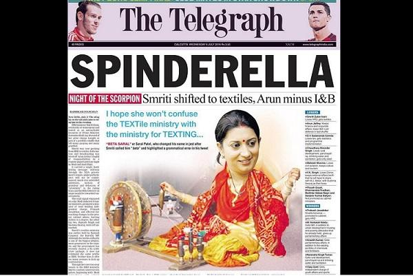 Twitterati outraged over The Telegraphs Spinderella headline