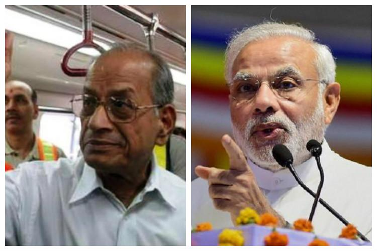 Kochi metro launch: Sreedharan's name missing from list