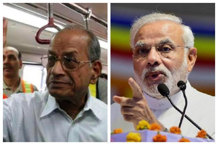 Yes Metro man Sreedharan will be on the Kochi inauguration stage PMO takes back snub
