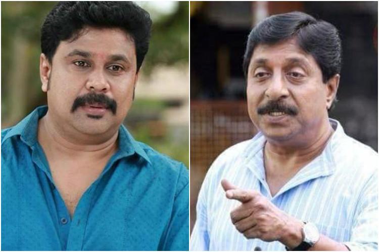 Filmmaker Sreenivasans house attacked for supporting Dileep Black paint smeared