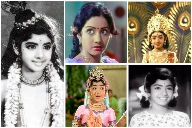 Baby Sridevi in pictures From charming child to stunning teen