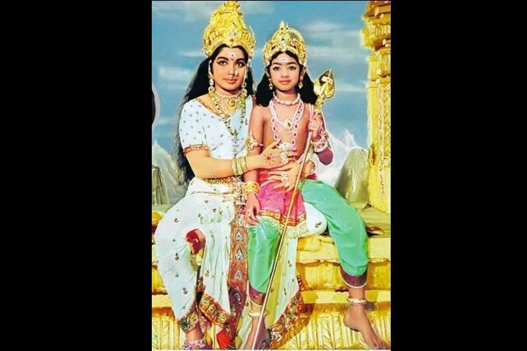 Jayalalithaa as Parvati and Sridevi as Lord Muruga actor shares an old memory