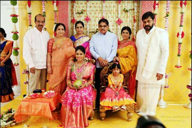 Tollywood star Chiranjeevis daughter gets hitched actor shakes a leg at ceremony