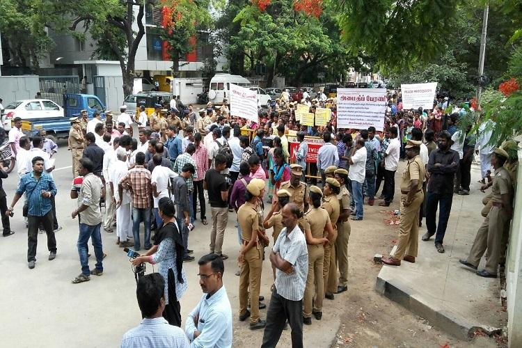 A fight by Sri Lankan Tamil refugees demanding freedom and opportunities in India