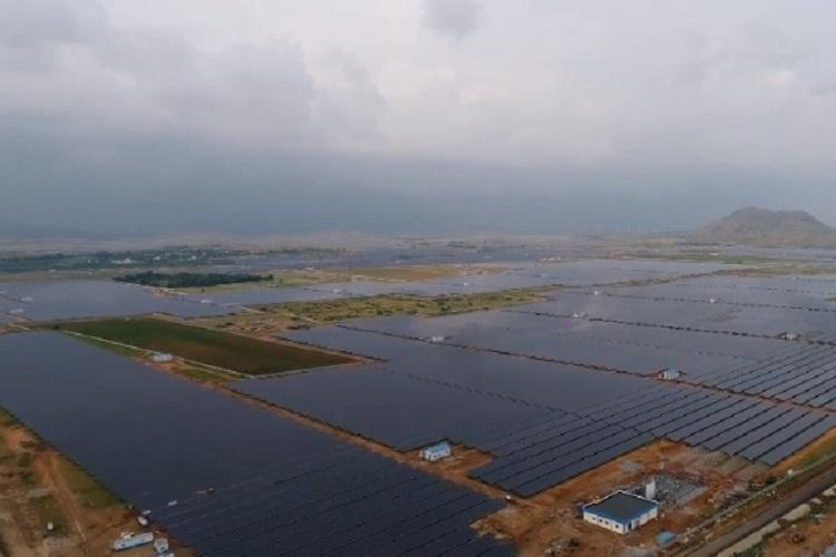 Watch An aerial view of the Pavagada Solar Park coming up in Karnataka and its huge