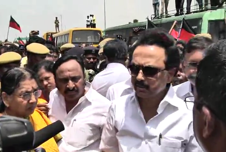 DMK leader MK Stalin arrested in Coimbatore