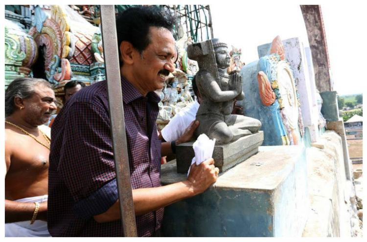 AIADMK attacks DMK over Stalins visit to a temple