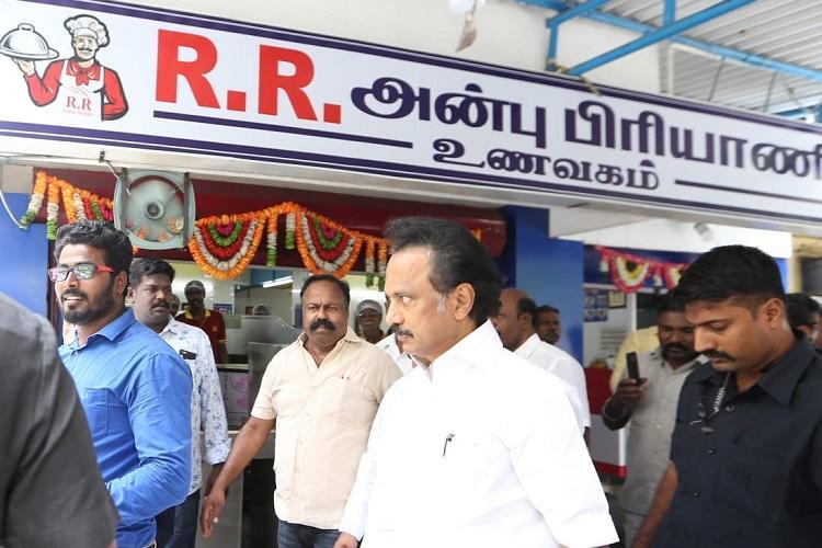 Biriyani assault Stalin visits Salem RR Biriyani assures all help