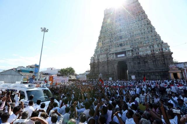A historic debate is afoot in the Dravidian movement Is DMK trying to project a pro-Hindu image