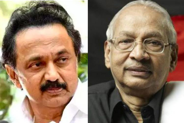 Planned RSS conspiracy Stalin on outrage over Veeramanis Lord Krishna comments