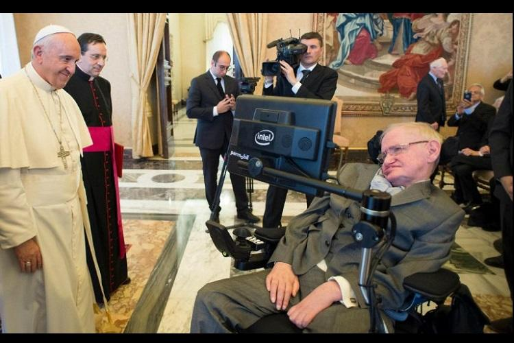 Pope Francis meets physicist Stephen Hawking at science symposium