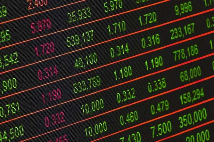 pic showing stock market values