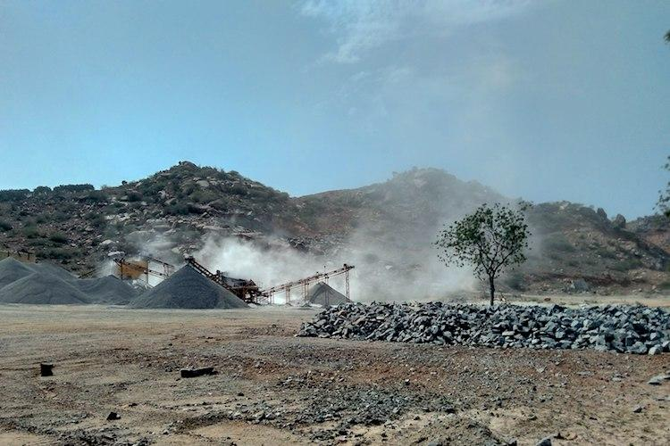 In an AP Ministers constituency stone quarrying has allegedly killed at least 100 people