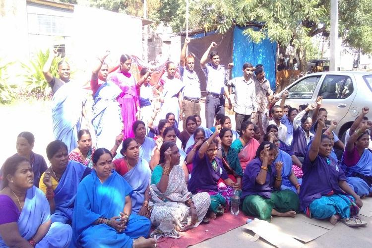 Hyderabad hospital sanitary workers go on strike after govt stalls payments