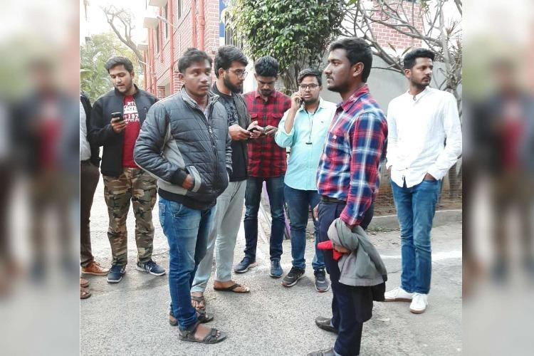 Uni of Hyderabad students detained for 8 hours asked if they have connection with Azad