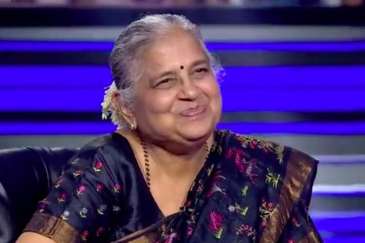 Sudha Murthy in a KBC episode