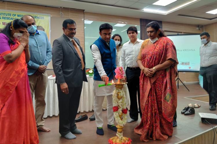 Sudhakar inuagurating thid phase trials