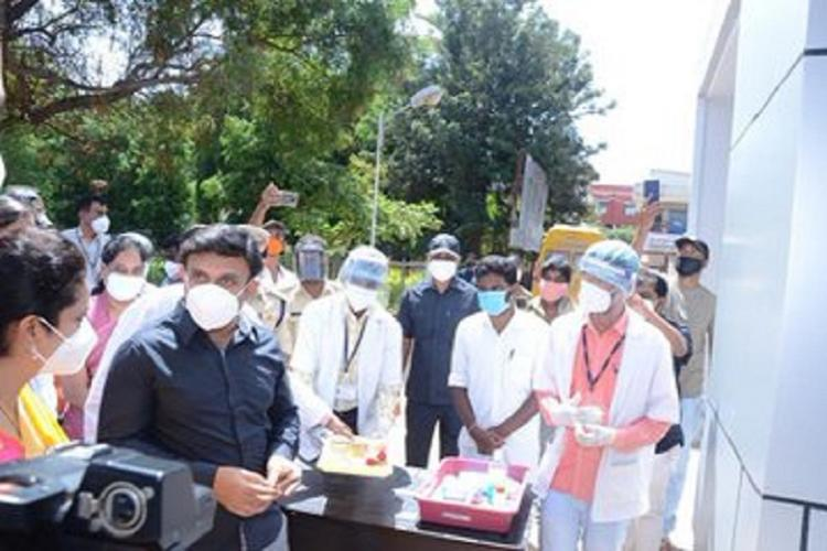 Karnataka Medical Education Minister Dr K Sudhakar on Saturday inaugurated a biosafety level two (BSL-2) dedicated COVID and Virology lab