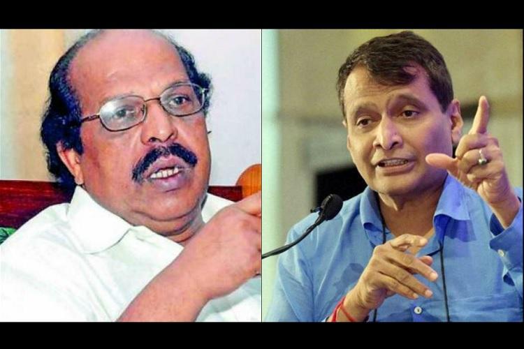 State short-changed on railway infrastructure Kerala minister tells Suresh Prabhu