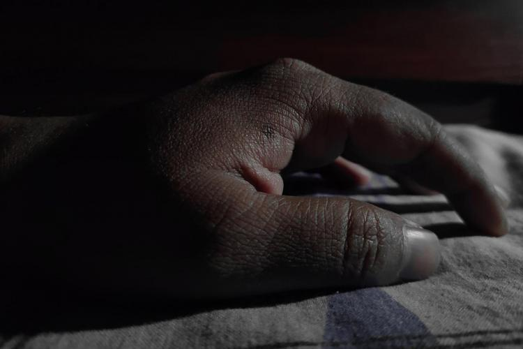 Close up of a dead person's hand