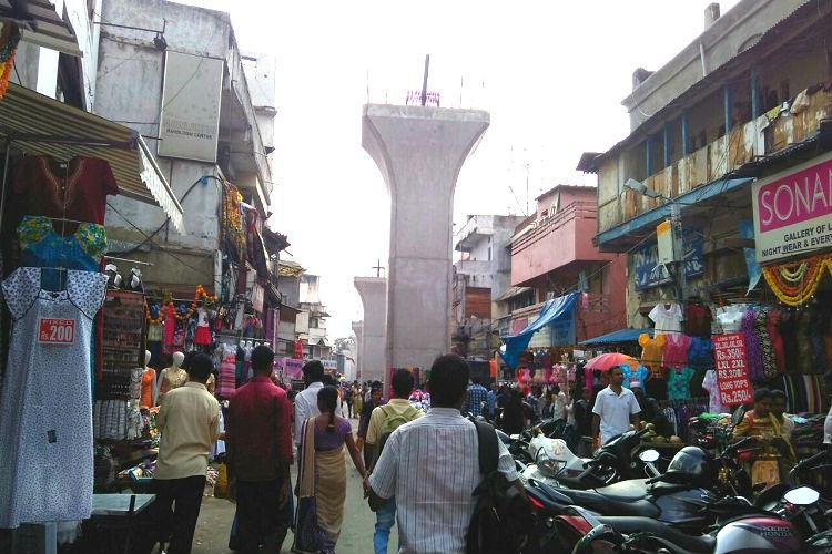Ground Report Traders at Hyderabads Sultan Bazar reminisce as Metro Rail construction begins