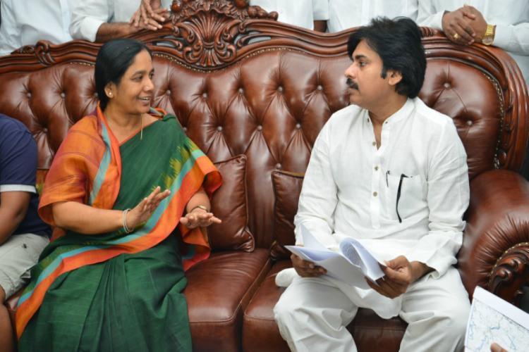 Pawan Kalyan visits Paritala Ravis residence in Andhra raises eyebrows