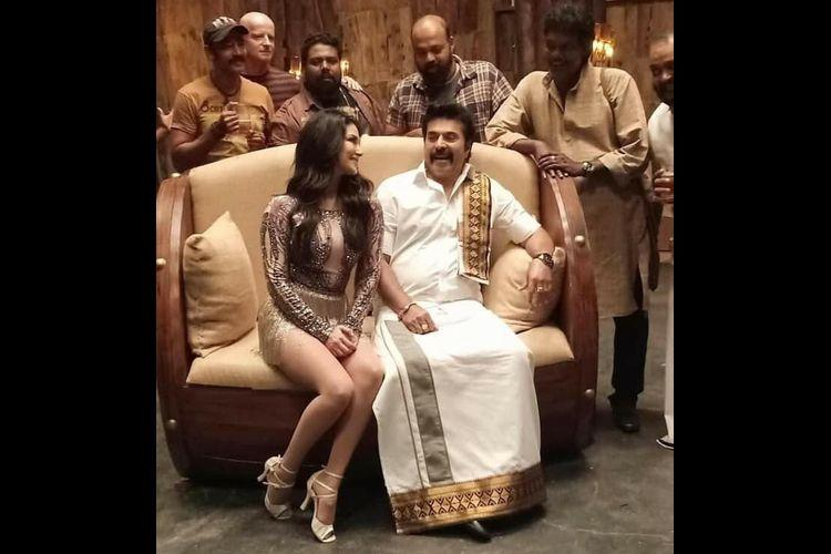 Sunny Leones photo with Mammootty in item song from Madura Raja goes viral