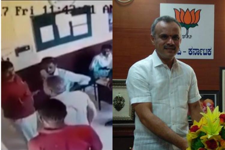 Video Ktaka BJP MLA assaults toll booth staff for denial of VIP treatment