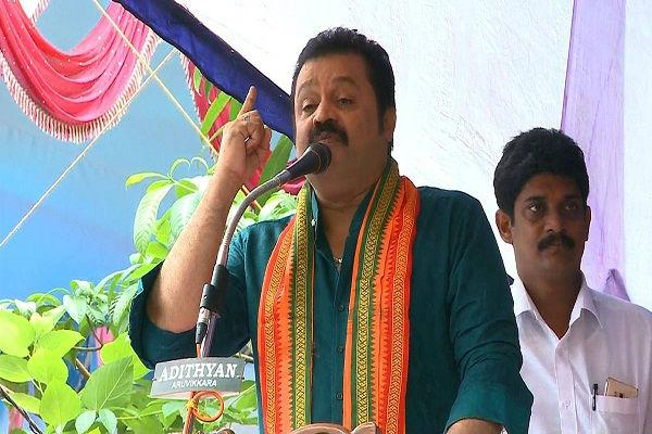 Actor Suresh Gopi is NDA candidate from Thrissur constituency