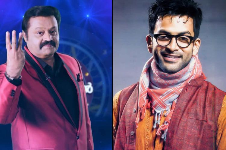 A collage of Malayalam actors Suresh Gopi and Prithviraj