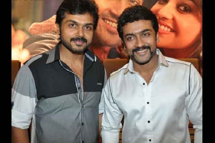 I stand a few steps away in awe Actor Suriya to brother Karthi on Kaashmora