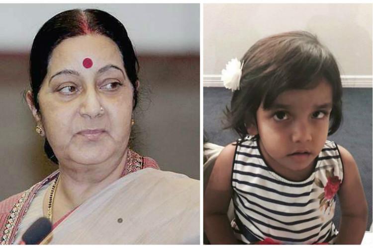 Sushma Swaraj seeks investigation in Sherin Mathews adoption