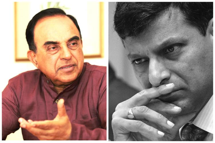 Subramanian Swamy says the economy is crashing replace Raghuram Rajan
